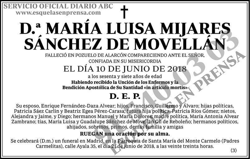 María Luisa Mijares Sánchez de Movellán